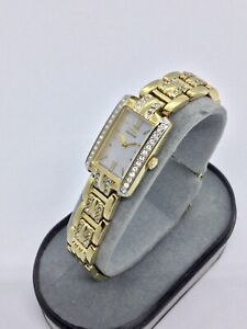 Citizen Eco-Drive Art Deco Style Ladies Tank Watch with Crystal Accents 880405