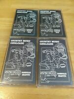Lot of 4 MUSIC CAVALCADE Nashville Graffiti American Country Gold Cassette Tapes