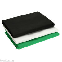 5x10FT Black White Green Photo Backdrops Screen Muslin Photography Background