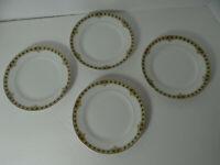 "Noritake The Ceylon Set 4 Bread Butter Plates Roses on Black 6 1/2"" Japan"