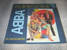 """ABBA MAXI VINYLE 12"""" FRANCE LAY ALL YOUR LOVE ON ME+"""