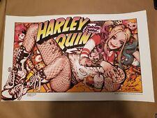 Harley Quinn Rockin Jelly Bean Regular Print Poster Bottleneck NYCC x/225