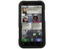 Rubberized Plastic Phone Case Black For Motorola DEFY