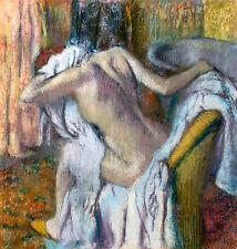 Edgar Degas, After the Bath, Woman drying herself, Museum Art, Canvas Print