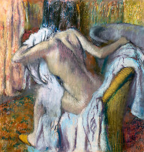 Edgar Degas, After the Bath, Woman drying herself, Museum Art, Canvas Print