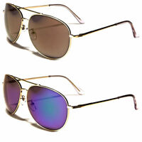 Retro 80's Fashion Aviator Sunglasses Black Brown Men Women Vintage Glasses