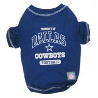 Dallas Cowboys Officially Licensed NFL Dog Pet Tee Shirt, Blue XS-XL