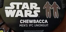 Star Wars Chewbacca Plush Hooded Pajamas Union Suit- One Piece Costume- Mens M