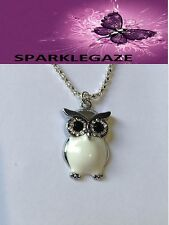 BRAND NEW 2017 WHITE OWL WITH RHINESTONES AND SP NECKLACE AUS SELLER 79