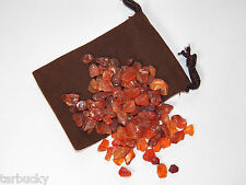 100 carat XS  CARNELIAN AGATE Tumbled CRYSTALS GEMSTONES 20g Free Bag FS