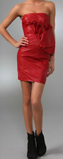 Dsquared2 red leather dress. Made in Italy BNWT Size Italy 40 UK 8, US 4