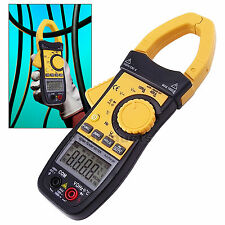Digital AC/DC Pro Clamp Meter Auto Range Multimeter Thermometer Ohm 3999 counts
