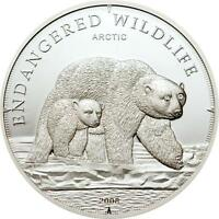 Cook 2008 Pole Ice Bear 5 Dollars Silver Coin,Proof