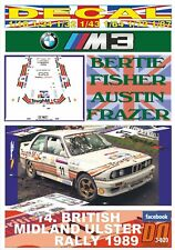 DECAL BMW M3 BERTIE FISHER ULSTER R. 1989 4th (06)
