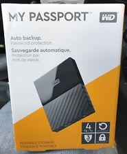 Western Digital My Passport 4TB USB 3.0 Portable Hard Drive Brand New Sealed