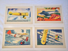 "1930s F277-3 HJ Heinz Co. ""Famous Airplanes"" Premiums Complete Set (4)"