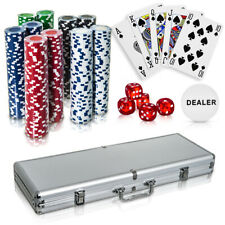 More details for professional 500pc casino card poker set with case play deal full poker deck