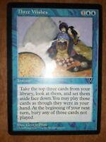Three Wishes Visions Rare Instant Magic MTG Wizards WOTC M1348