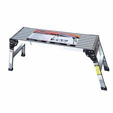 Speedway Aluminum Work Platform Drywall Step Up Folding Work Bench Stool Ladder