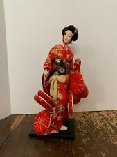 Vintage Japanese Geisha Girl Doll 17 Inches Tall Made In Japan