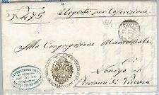 64275 - ITALIA REGNO - STORIA POSTALE : BUSTA in FRANCHIGIA da TREGNAGO 1864