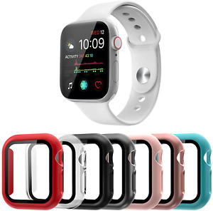 Apple Watch 40/44mm Case Series 6/5/4/SE Tempered Glass Protective Cover 7 Pack