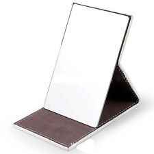 Foldable Stainless Steel Mirror W/Leather Cover Portable for Camping & Multi-use