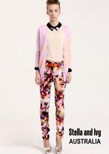 Dress Pants Geometric Regular Size Pants for Women