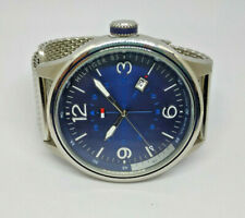 Mens Large Dial Tommy Hilfiger Peter Stainless Steel Mesh Strap Watch 1791106