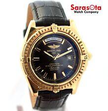 Breitling Headwind K45355 18K Yellow Gold Automatic Day/Date Men's Watch