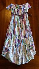 Hot Options Sorbet hi-low bird print maxi dress w belt sz14 BNWT free post E9