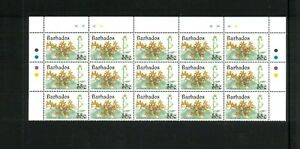 50 x 15)Topical Flowers (Orchids) Barbados 826-29. Cat.112.50 (7.50 x 15)