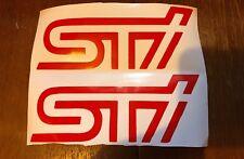 Subaru Impreza sti Decals. Pair Of. Racing. Subaru. Wrx. Bumper Stickers. Sport
