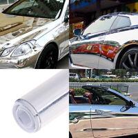 Car silver glossy mirror stretchable chrome vinyl wrap decal film stickers