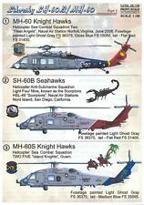 Print Scale Decals 1/48 Sikorsky Sh-60B Sea Hawk & Mh-60 Knight Hawk Helicopters