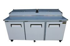 New 3 Door Refrigerated Pizza Prep Table 84