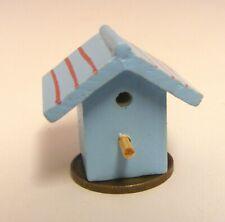 1:12 Scale Blue Painted Birds Wooden Nesting Box Tumdee Dolls House Miniature