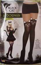 BLACK CAT Collant/Calze Carini Kitty Facce Halloween