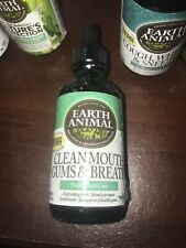 Earth Animal Clean Mouth Gums & Breath 2fl Oz Daily Oral Care.Dog & Cat.
