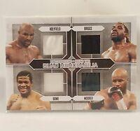 Holyfield Bowe Moore Briggs 2011 Ringside Quad Memorabilia Boxing Card Silver