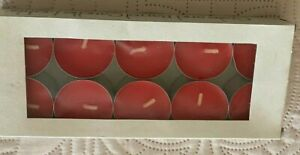 Tea Candles - Crate and Barrell Red