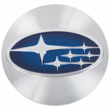 OEM 2015-2018 Subaru Impreza Wheel Hub Canter Cap Silver & Blue NEW 28821VA011