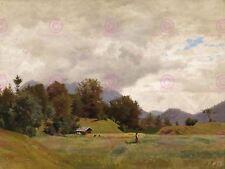 Painting Landscape Eckermann Alpine Scenery Art Picture Canvas Art Print