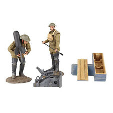 BRITAINS WORLD WAR 1 23108 1917-18 U.S. MORTAR CREW WITH FRENCH CRAPOUILLOT MIB