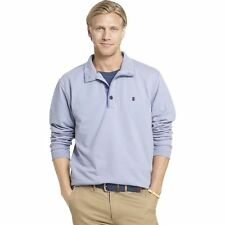 New Men IZOD Hampton Saltwater Fleece Mockneck Solid or Stripe Pullover MSRP $60