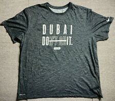 Nike Mens Grey Dri Fit T Shirt Adult XXLarge Size Grey Dubai Dont Quit Size XXL