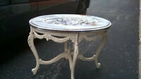 Antique Tray Coffee Table Carved Crest