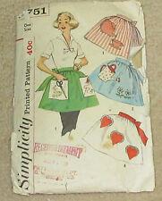 Vintage Simplicity Ladies APRON Pattern 2751 one size