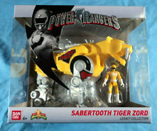 Saban's Mighty Morphin Power Rangers Legacy Collection Sabertooth Tiger Zord New