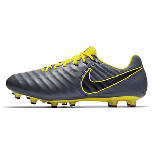 Nike Legend 7 Elite AG PRO Leather Unisex Football Soccer Shoes grey AH7423 070